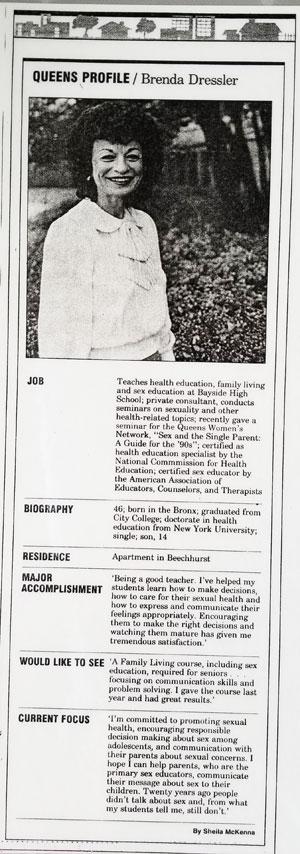 Queens Profile Brenda Dressler
